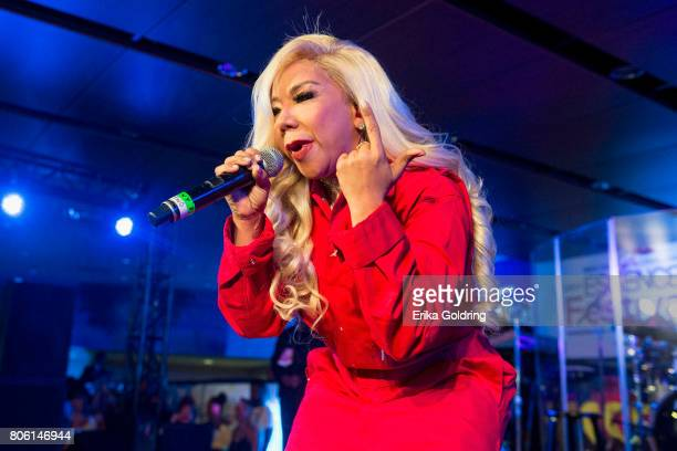 Tameka 'Tiny' Harris of Xscape performs onstage at the 2017 ESSENCE Festival Presented By Coca Cola at the MercedesBenz Superdome on July 2 2017 in...