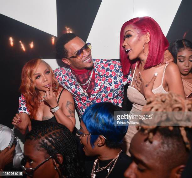 """Tameka 'Tiny' Harris, T.I. And Tokyo Jetz attend """"LIBRA"""" Album release Party at Gold Room on October 16, 2020 in Atlanta, Georgia."""