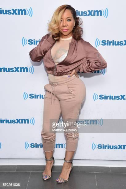 Tameka 'Tiny' Harris visits SiriusXM Studios on April 19 2017 in New York City