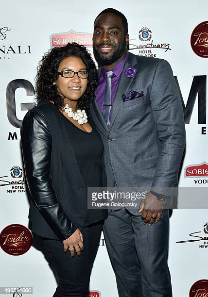 Tamela Davis and Demario Davis attend the GOTHAM Men's event with host Antonio Cromartie at Tender Restaurant in The Sanctuary Hotel at Tender at the...