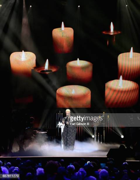 Tamela Mann performs during the 32nd annual Stellar Gospel Music Awards at the Orleans Arena on March 25 2017 in Las Vegas Nevada