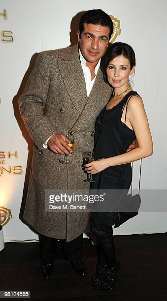 Tamer Hassan and Jane March attend the afterparty following the World premiere of 'Clash Of The Titans' at Aqua on March 29, 2010 in London, England.