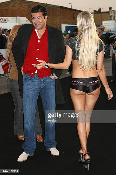 Tamer Hassan Arrivals at the Death Proof celebrity banger race Tamer Hassan surrounded by Hustler Girls 17th September 2007 Job 32380 Ref PAT...