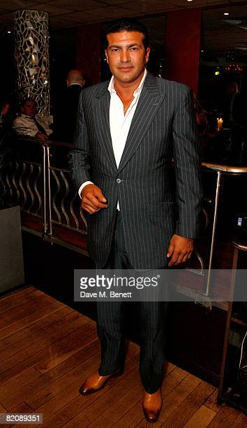 Tamer Hassan attends the afterparty following the UK film premiere of 'Cass' at Metra on July 28 2008 in London England