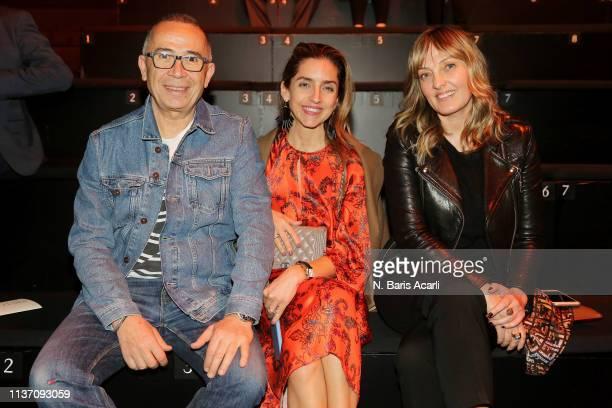 Tamer Yilmaz Melis Agazat and Isin Gormus attend the MercedesBenz Fashion Week Istanbul March 2019 at Zorlu Center on March 20 2019 in Istanbul Turkey
