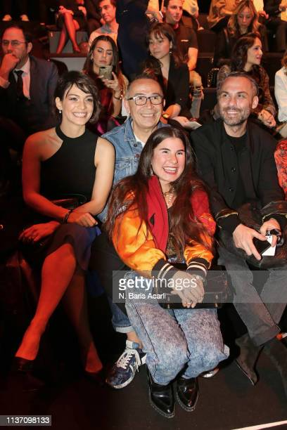 Tamer Yilmaz Zeynep Tosun Ozgur Masur and guests attend the MercedesBenz Fashion Week Istanbul March 2019 at Zorlu Center on March 20 2019 in...