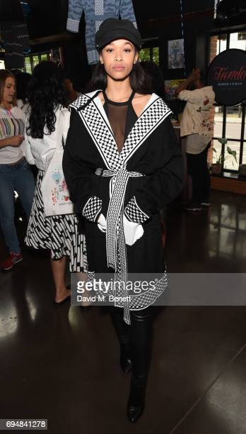 Tamera attends the ANZ presentation during the London Fashion Week Men's June 2017 collections at The Curtain on June 11 2017 in London England