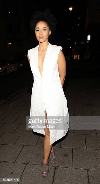 Tamera Foster attending the GQ Closing Dinner, London Collections Men, Autumn Winter 2016 on January 11, 2016 in London, England.