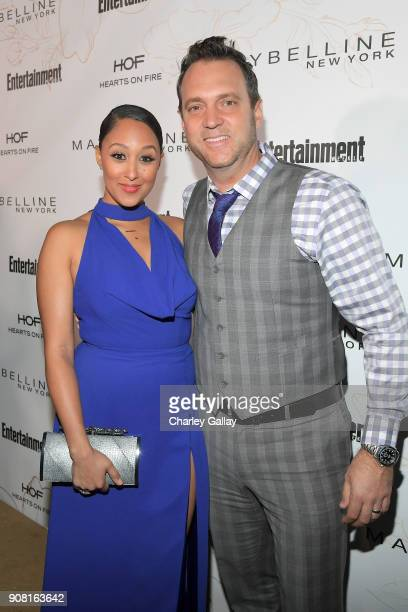 Tamera Mowry and Adam Housley attend Entertainment Weekly's Screen Actors Guild Award Nominees Celebration sponsored by Maybelline New York at...