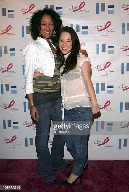 Tamera Mowry and Amy Davidson during LF Robertson Presents Power of Now Benefiting Breast Cancer Research Foundation March 30 2006 at LF in Los...