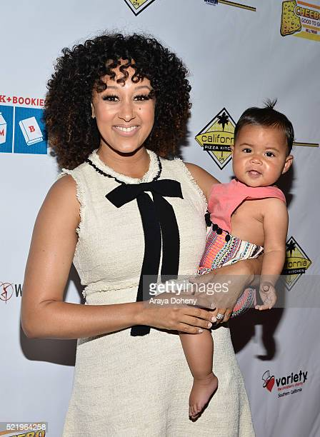 Tamera Mowry and Ariah Talea Housley attend the Milk Bookies' 7th Annual Story Time Celebration on April 17 2016 in Los Angeles California