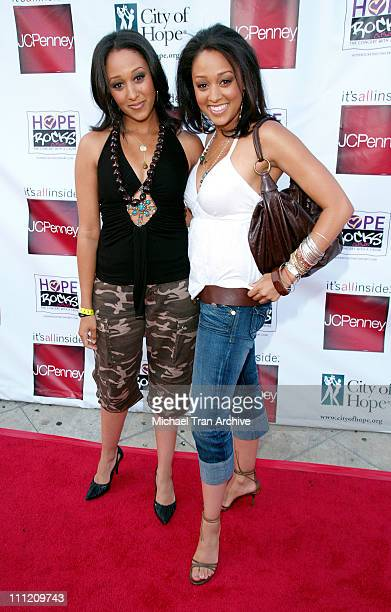 Tamera Mowry and Tia Mowry during Young Hollywood Says 'Hope Rocks' Concert to Benefit City of Hope Arrivals at Key Club in Los Angeles California...