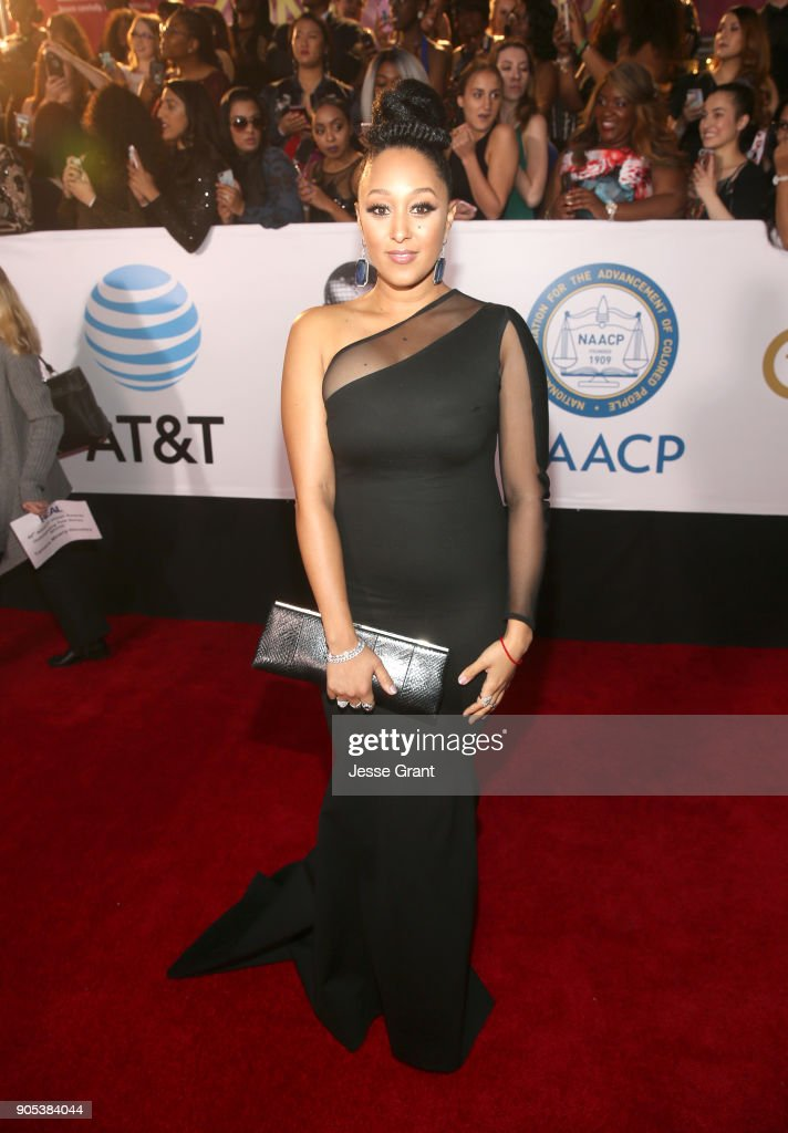 Tamera Mowry attends the 49th NAACP Image Awards at Pasadena Civic Auditorium on January 15, 2018 in Pasadena, California.