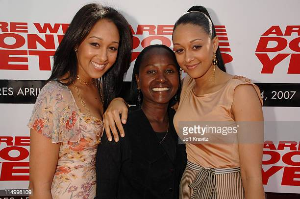 """Tamera Mowry, Darlene Mowry and Tia Mowry during """"Are We Done Yet?"""" Los Angeles Premiere - Red Carpet at Mann Village Theater in Westwood,..."""