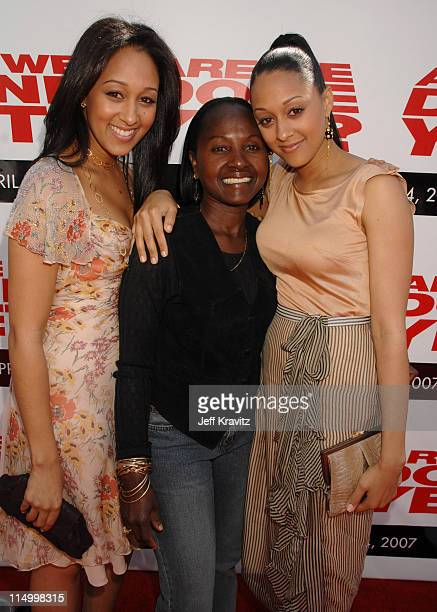 Tamera Mowry Darlene Mowry and Tia Mowry during Are We Done Yet Los Angeles Premiere Red Carpet at Mann Village Theater in Westwood California United...