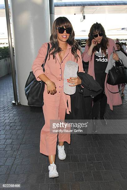 Tamera Mowry is seen at LAX on November 09 2016 in Los Angeles California