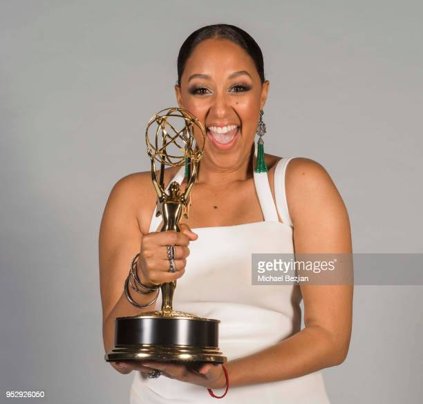 Tamera Mowry poses for portrait at 45th Daytime Emmy Awards Portraits by The Artists Project Sponsored by the Visual Snow Initiative on April 29 2018...