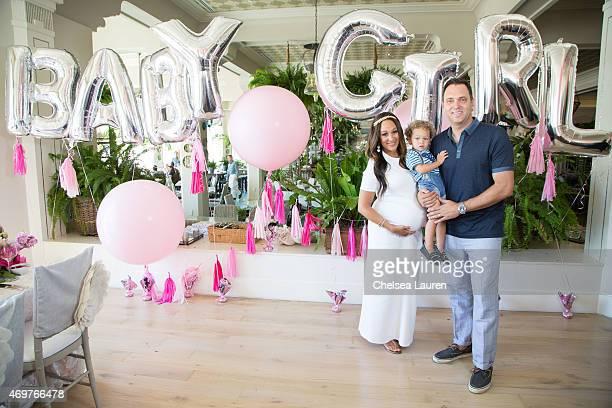 Tamera MowryHousley Aden Housley and Adam Housley attend Tamera MowryHousley's baby shower at Casa Del Mar on April 4 2015 in Santa Monica California
