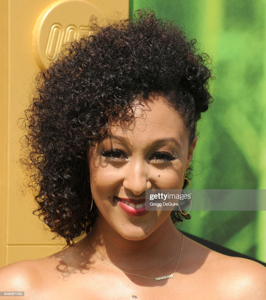 Tamera Mowry-Housley arrives at the premiere of Warner Bros. Pictures' 'The LEGO Ninjago Movie' at Regency Village Theatre on September 16, 2017 in Westwood, California.