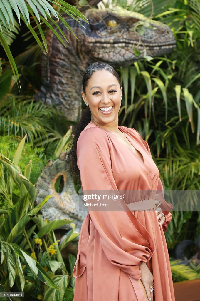 Tamera Mowry-Housley arrives to the Los Angeles premiere of Universal Pictures and Amblin Entertainment's 'Jurassic World: Fallen Kingdom' held at Walt Disney Concert Hall on June 12, 2018 in Los Angeles, California.
