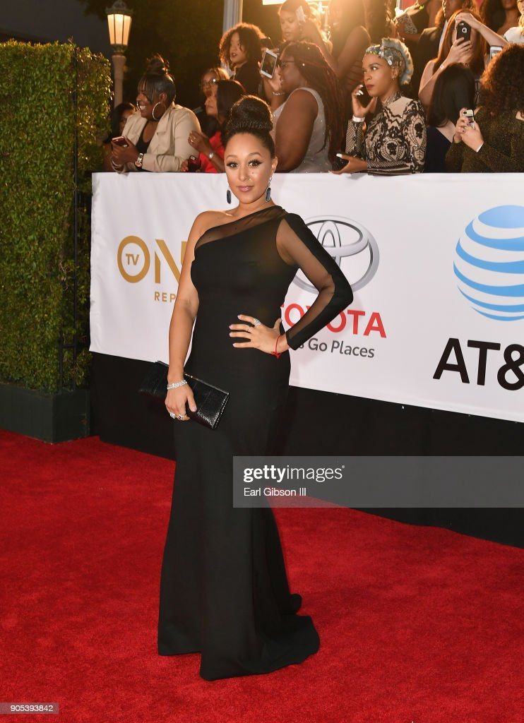 Tamera Mowry-Housley at the 49th NAACP Image Awards on January 15, 2018 in Pasadena, California.