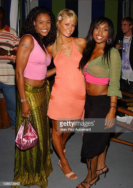 Tami Anderson Paris Hilton and Angell Conwell during Russell Simmons Work HardPlay Harder Lounge Sponsored by Courvoisier and W Hotel Arrivals at...