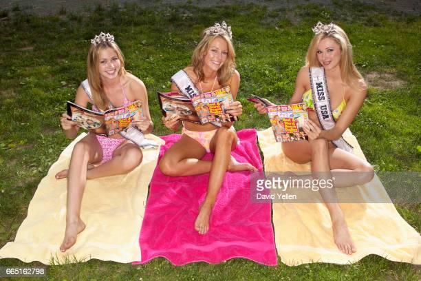 Tami Farrell Miss Teen USA 2003 Jennifer Hawkins Miss Universe 2004 and Shandi Finnessey Miss USA 2004
