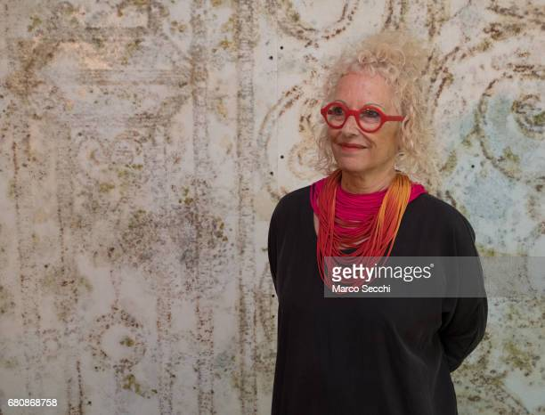 """Tami Katz-Freiman, curator for the Israeli pavilion """"Sun Stand Still"""", poses for a picture on May 9, 2017 in Venice, Italy. The 57th International..."""