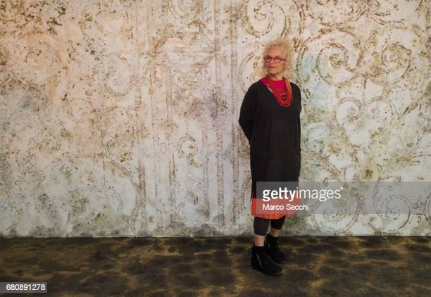 """Tami Katz-Freiman curator for the Israeli pavilion """"Sun Stand Still"""" poses for a picture on May 9, 2017 in Venice, Italy. The 57th International Art..."""