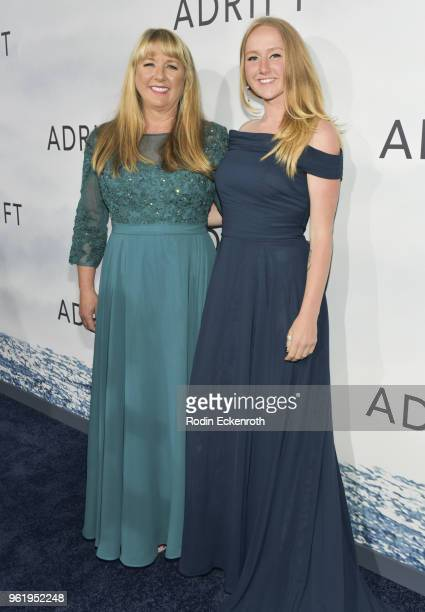 Tami Oldham Ashcraft and daughter arrive at the premiere of STX Films' 'Adrift' at Regal LA Live Stadium 14 on May 23 2018 in Los Angeles California