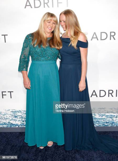 Tami Oldham Ashcraft and her daughter attend the premiere of 'Adrift' at Regal LA Live Stadium 14 on May 23 2018 in Los Angeles California