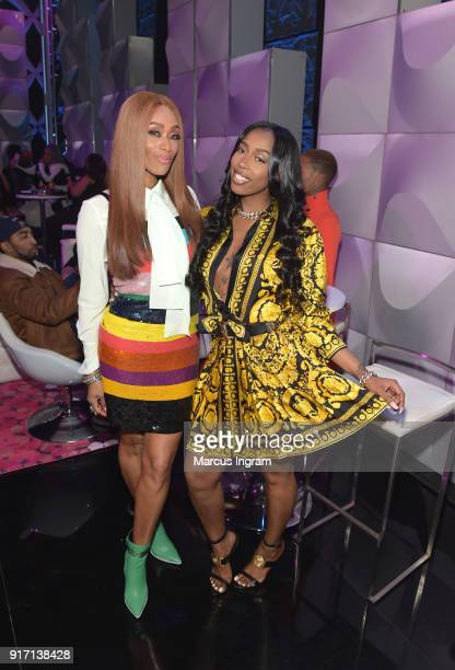 Tami Roman and Kash Doll attend BET's Social Awards 2018 at Tyler Perry Studio on February 11 2018 in Atlanta Georgia