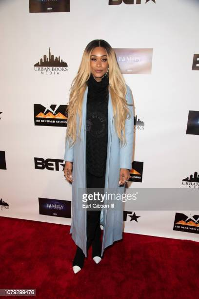 Tami Roman attends BET's The Family Business Special Screening at Ahrya Fine Arts Theater on January 7 2019 in Beverly Hills California