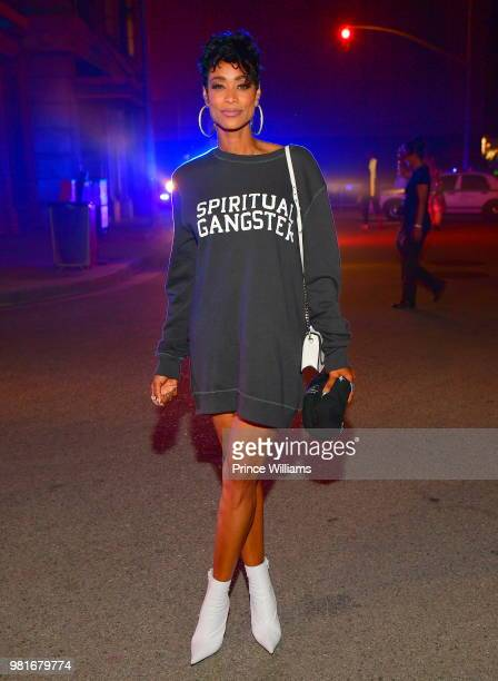 Tami Roman attends Teyana Taylor Album Release Party at Universal Studios Hollywood on June 21 2018 in Universal City California