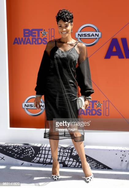 Tami Roman attends the 2018 BET Awards at Microsoft Theater on June 24 2018 in Los Angeles California