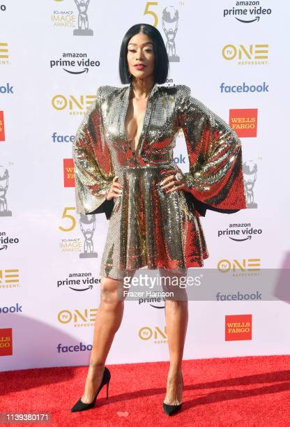 Tami Roman attends the 50th NAACP Image Awards at Dolby Theatre on March 30 2019 in Hollywood California
