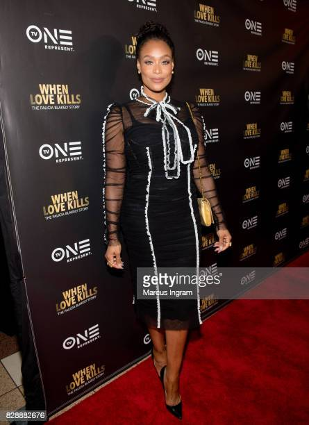 Tami Roman attends the 'When Love Kills The Falicia Blakely Story' movie screening at Regal Atlantic Station on August 9 2017 in Atlanta Georgia