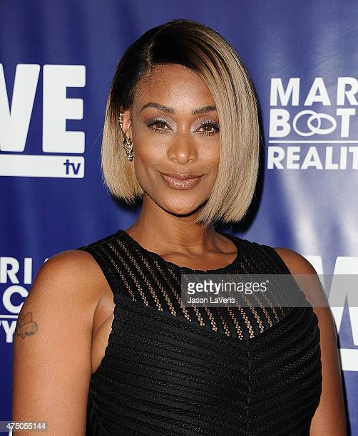 Tami Roman attends WE tv's Marriage Bootcamp Reality Stars' premiere party at HYDE Sunset Kitchen Cocktails on May 28 2015 in West Hollywood...
