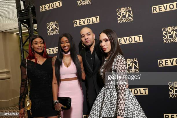 Tami Roman Jazz Anderson DJ Envy and Gia Casey attend the 5th Annual Global Spin Awards at The Orpheum Theatre on February 16 2017 in New Orleans...