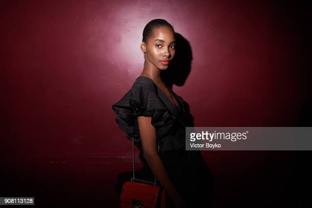 Tami Williams attends the Balmain Homme Menswear Fall/Winter 20182019 aftershow as part of Paris Fashion Week on January 20 2018 in Paris France