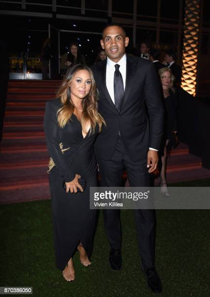 Tamia Hill and TV personality Grant Hill attend the 2017 LACMA Art Film Gala Honoring Mark Bradford and George Lucas presented by Gucci at LACMA on...