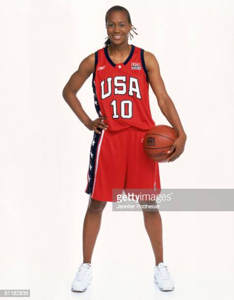 Tamika Catchings of Team USA poses for the 2004 Women's Team USA Portraits on March 23 2004 in Miami Florida NOTE TO USER User expressly acknowledges...