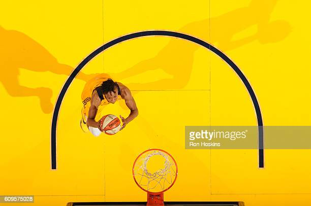Tamika Catchings of the Indiana Fever shoots the ball against the Phoenix Mercury during Round One of the 2016 WNBA Playoffs on September 21 2016 at...