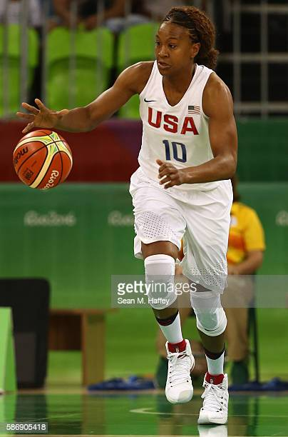 Tamika Catchings of United States during a Women's Preliminary Round basketball game between the United States and Senegal on day 2 of the Rio 2016...