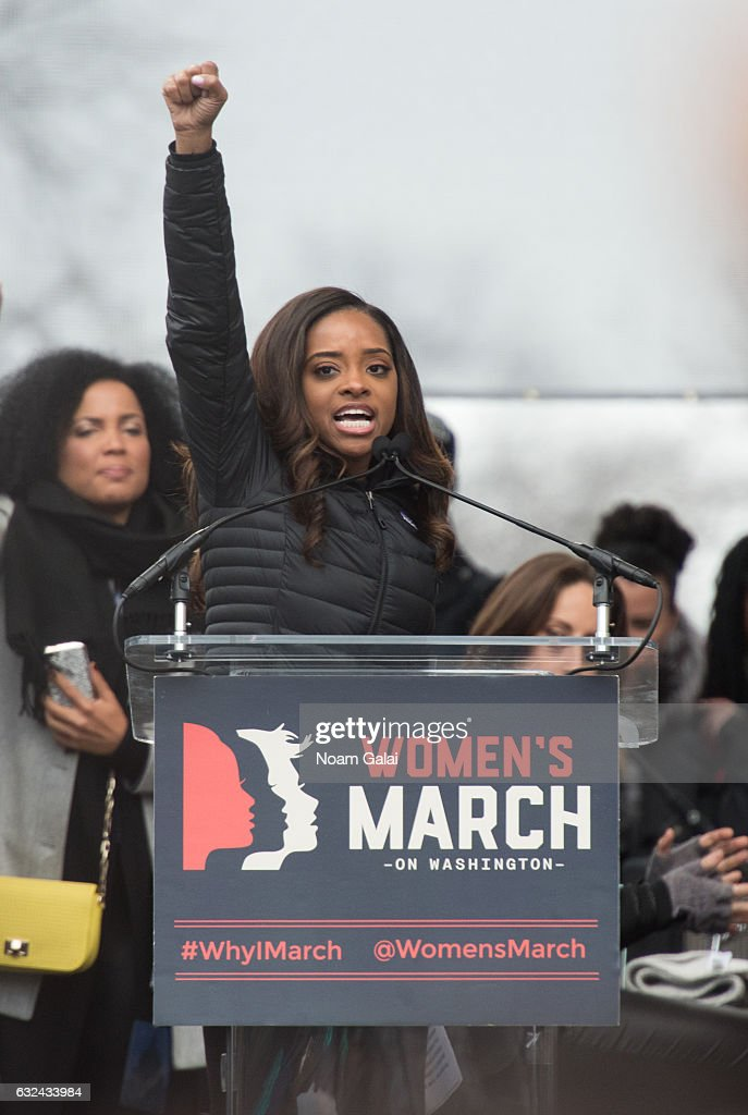 Tamika D. Mallory attends the Women's March on Washington on January 21, 2017 in Washington, DC.