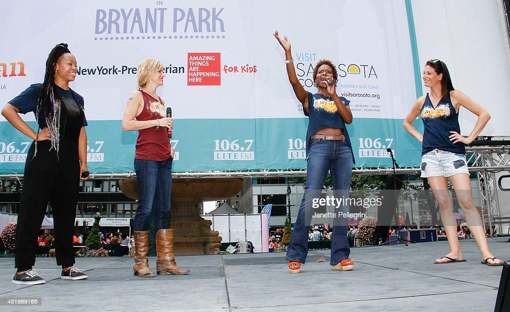 106.7 LITE FM's Broadway in Bryant Park 2014 - July 10, 2014 : News Photo