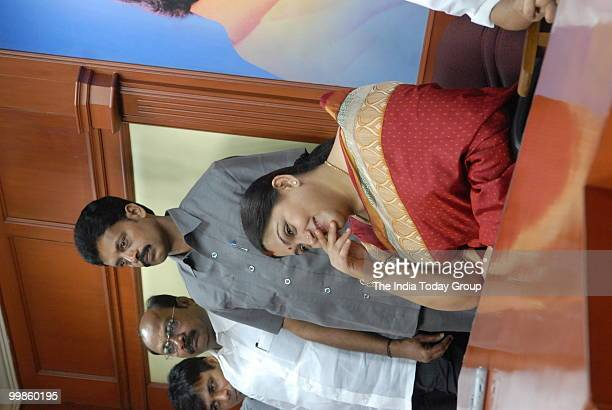 Tamil actor Khushboo joins the DMK in Chennai on Friday May 14 2010