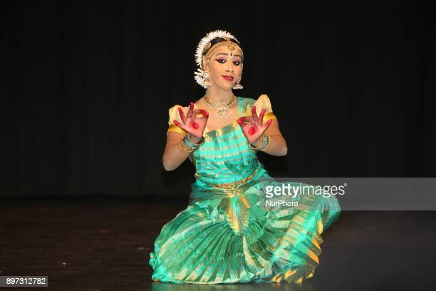 Tamil Bharatnatyam dancer performs an expressive dance during her Arangetram in Brampton Ontario Canada The Bharatnatyam Arangetram is the graduation...