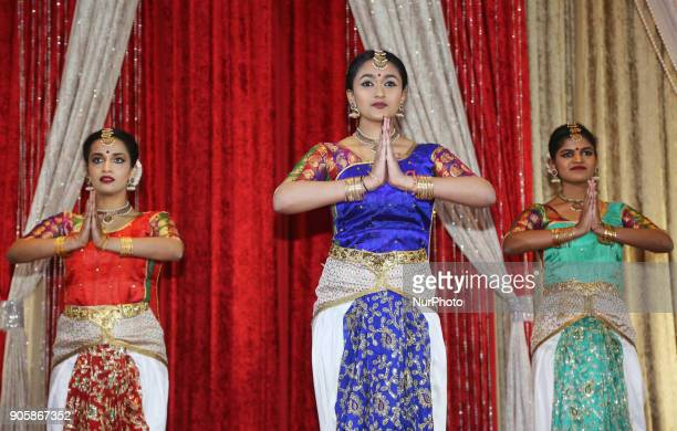 Tamil Bharatnatyam dancers perform during the Federal Liberal Caucus Thai Pongal and Tamil Heritage Month Reception held in Scarborough Ontario...