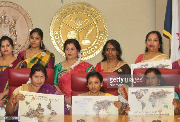 Tamil Canadians take part in the opening ceremony for Tamil Heritage Month 2018 in Scarborough Ontario Canada on January 5 2018 The Canadian...